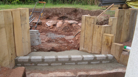 Steps And Circular Patio In Progress