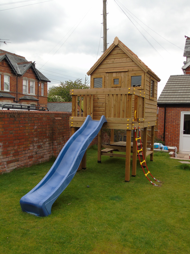 Play Tower With Slide & Play House