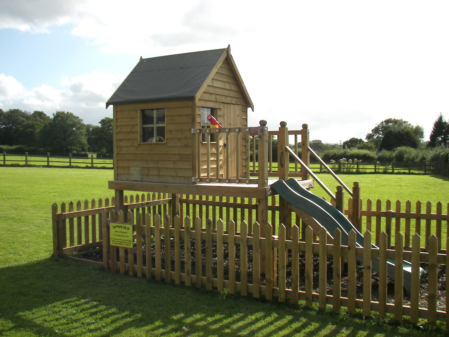 Play Tower With Playhouse & Slide