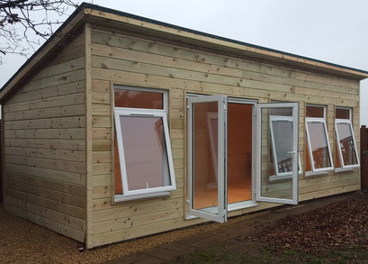 Summerhouse With Insulation, Double Glazing And Pent Roof
