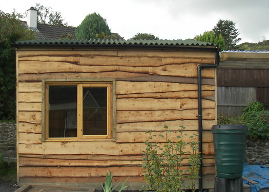 Bespoke Shed Using Waney Edge Timber.JPG