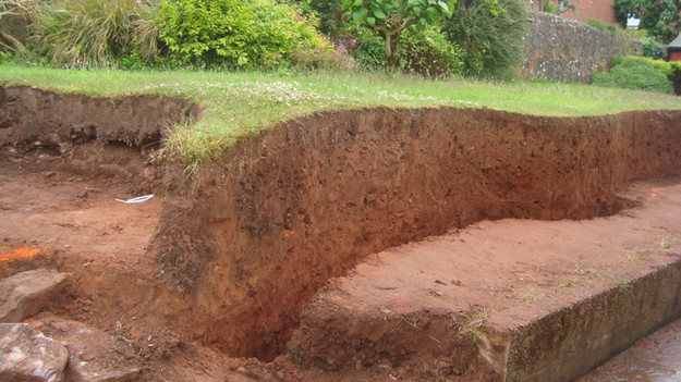 Area Dug Out to Create Tiered Garden