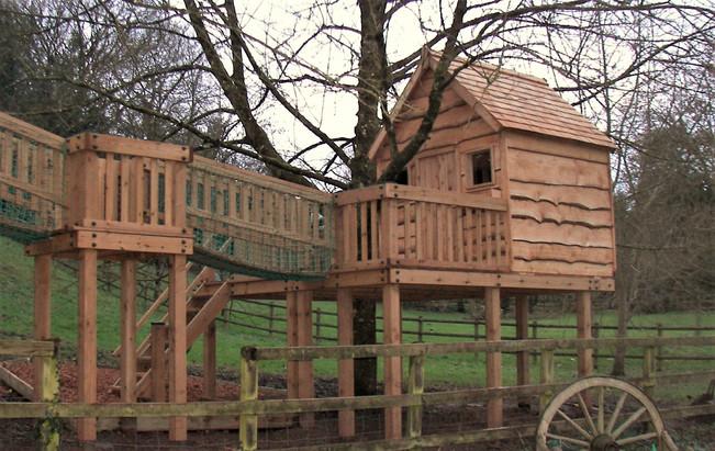 Treehouse With Waney Edge Cladding
