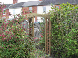 Arch with trellis