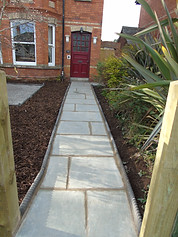 Path using Limestone Slabs