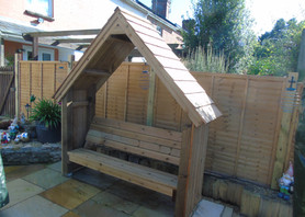 Arbour With Red Cedar Shingle Roof