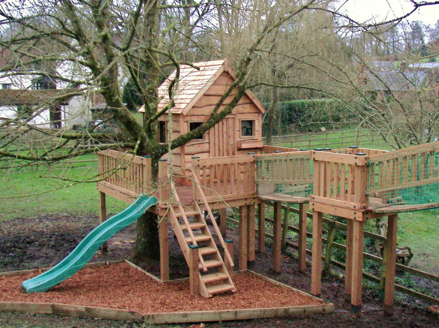 Treehouse With Slide and Window box