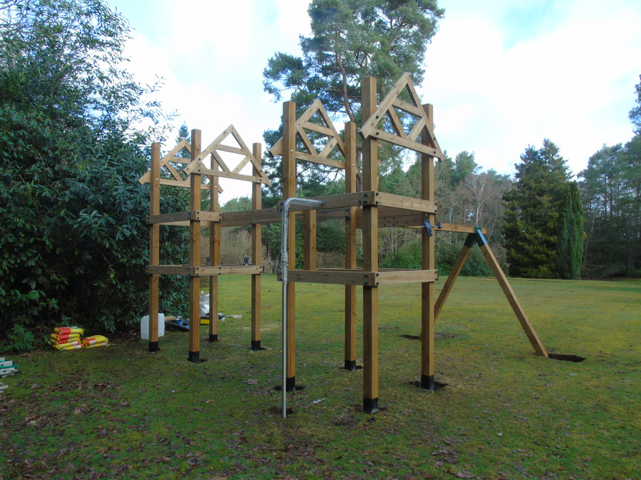 Play tower under construction