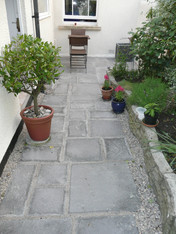 Path Using Grey Concrete Slabs