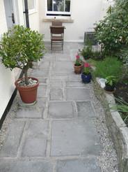 Path Using Grey Concrete Slabs