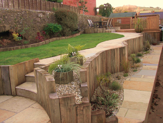 Completed Tiered Garden With Planting
