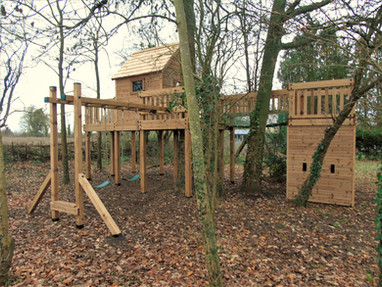 Treehouse With Clatter Bridge Tower And Swings
