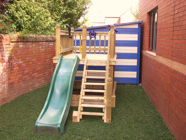 Play Tower With Rubber Mulch safety surface