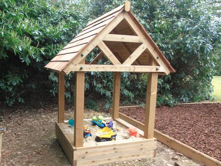 Timber sandpit