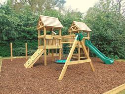 Commercial slide & birds nest swing
