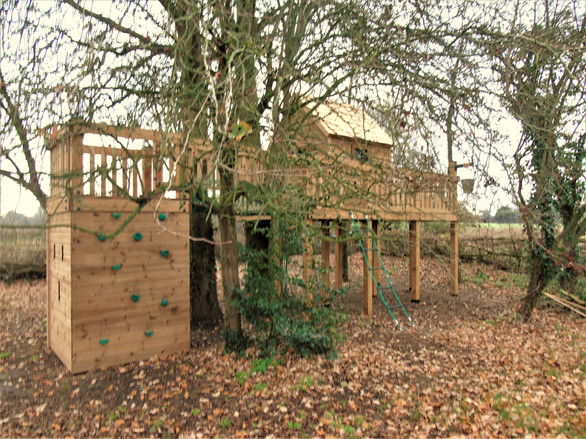 Treehouse In Wooded Area