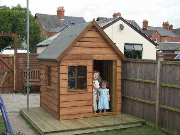 Playhouse With Waney Edge Timber and fel