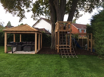 Bespoke Timber Gazebo And Play Tower