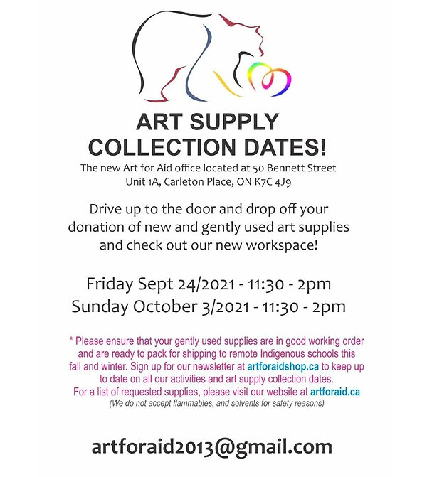 Art for Aid Project New Office Location Carleton Place Ontario Donate art supplies.jpg