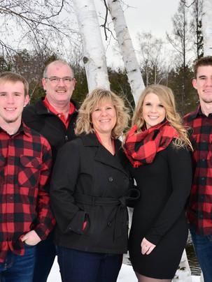 family portrait plaid