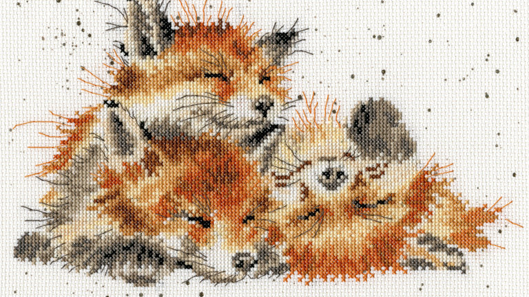 """Bothy Threads Cross Stitch Kit """"Afternoon Nap"""" by Wrendale"""