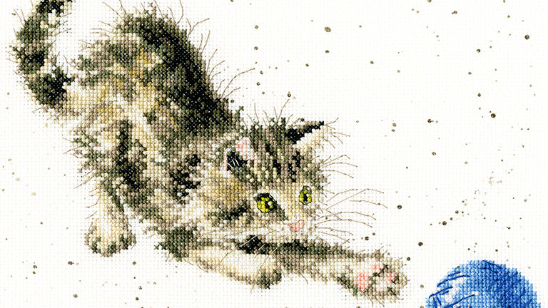 """Bothy Threads Cross Stich Kit """"Kitty"""" design by Wrendale"""