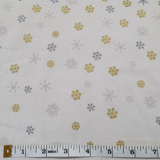 gold and silver snowflakes 7