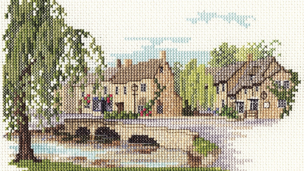 """Bothy Thread Cross Stitch Kit """"Bourton on the Water"""" by Dale Designs"""
