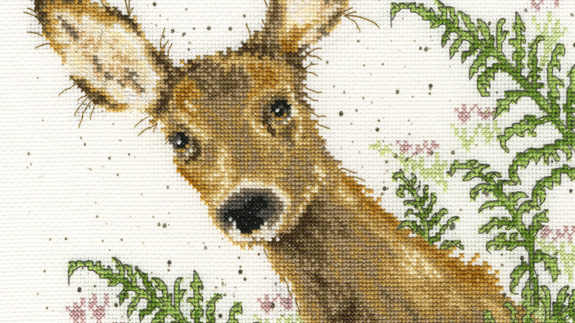 "Bothy Threads Cross Stich Kit ""Doe a Deer"" design by Wrendale"