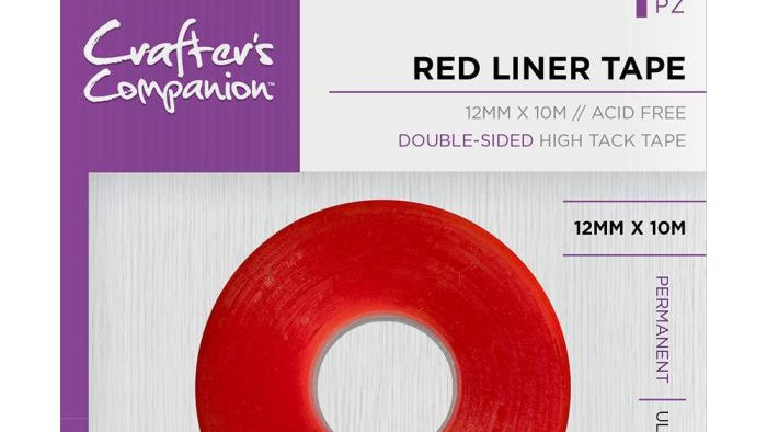 Crafter's Companion red liner double sided tape 12mm