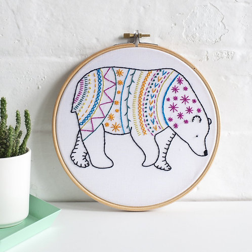 Contemporary Bear Embroidery Kit