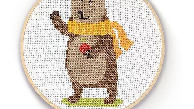 The Crafty Kit Company Cross Stitch Bear