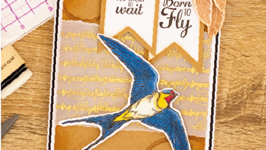Born to Fly Collage Stamps by Crafter's COmpanion