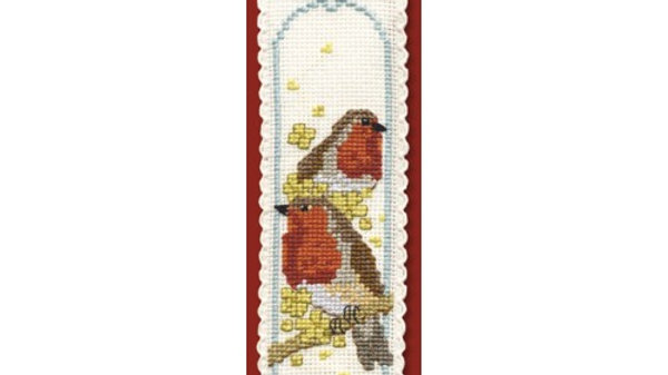 Textile Heritage Cross Stitch Bookmark Kit -Robins