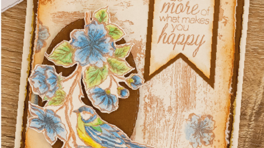 Feathered Friends Collage Stamp Set by Crafter's Companion