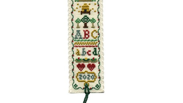 Textile Heritage Cross Stitch Bookmark Kit -Country Sampler