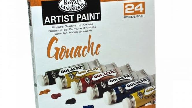 Royal Langnickle Gouache paint set 24 x 21ml tubes