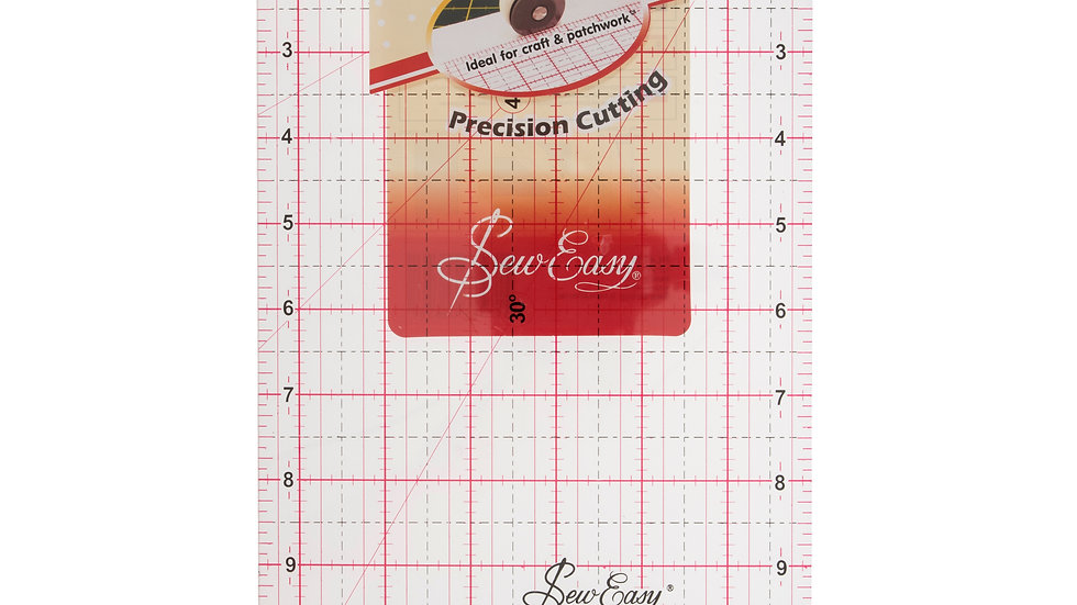 """Sew Easy 12"""" x 6 1/2"""" Quilting Ruler"""