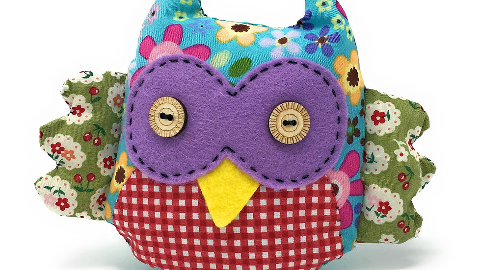 The Crafty Kit Co Patchwork Owl Sewing Kit
