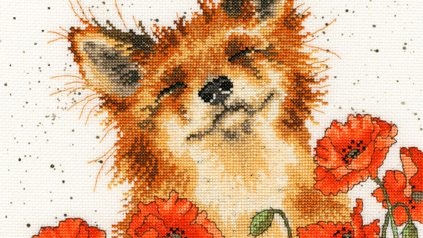 """Bothy Threads Cross Stich Kit """"Poppy Field"""" design by Wrendale"""