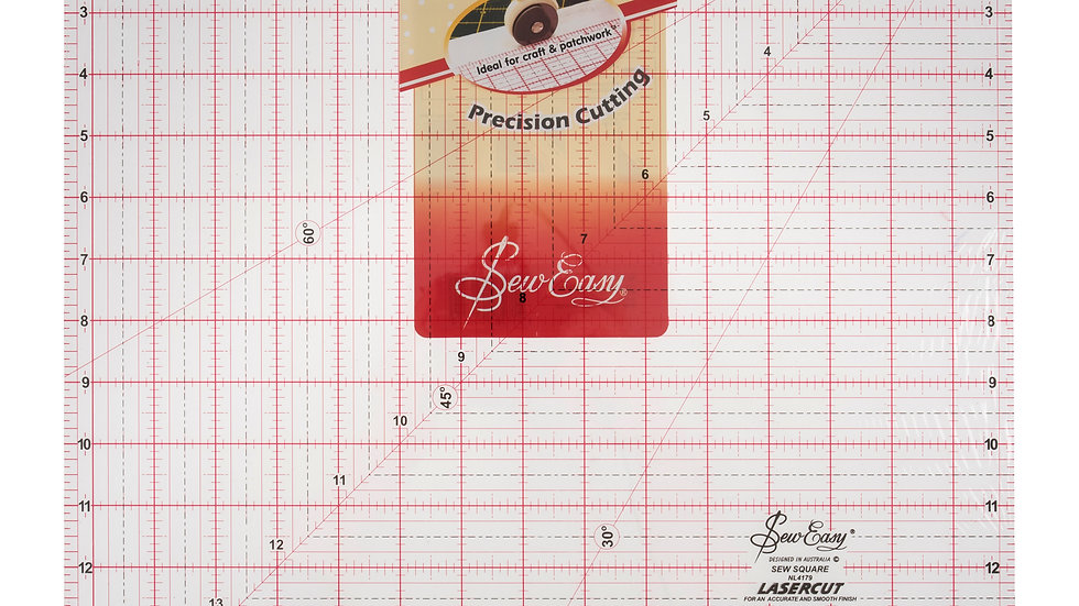 """Sew Easy 15 1/2"""" x 15 1/2"""" Acrylic Quilting Ruler"""