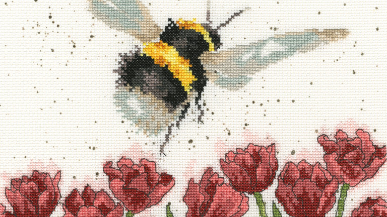 """Bothy Threads Cross Stich Kit """"Flight of the Bumblebee"""" design by Wrendale"""