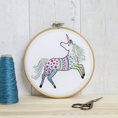 Contemporary Unicorn Embroidery Kit