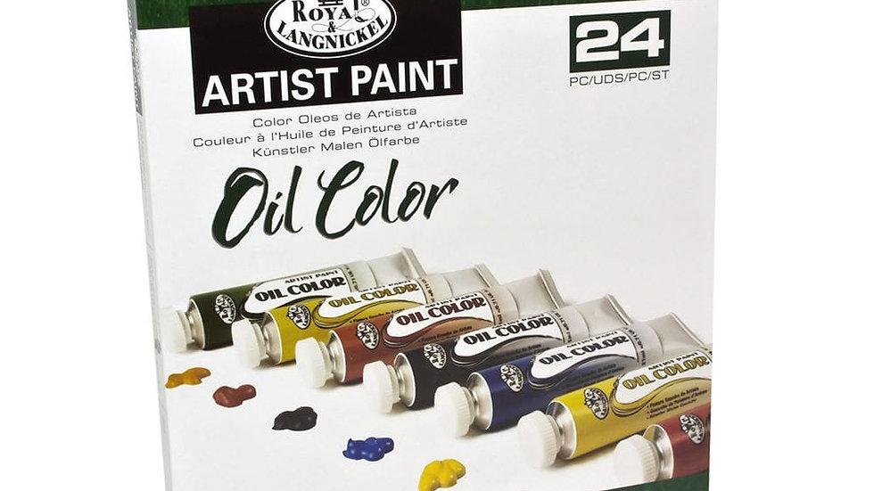 Royal Langnickle Oil Colour paint set 24 x 21ml