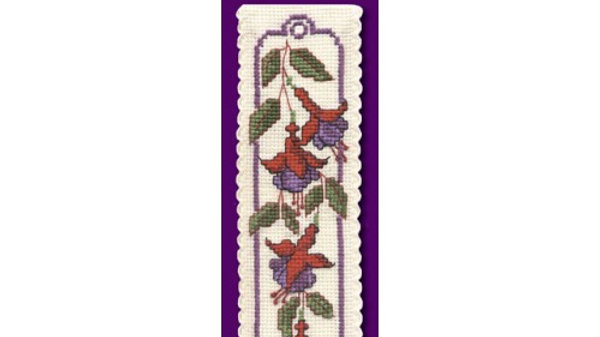 Textile Heritage Cross Stitch Bookmark Kit -Fuchsias