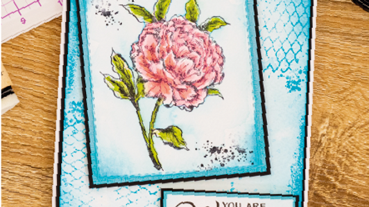 Beautiful Peony Collage Stamp Set by Crafter's Companion