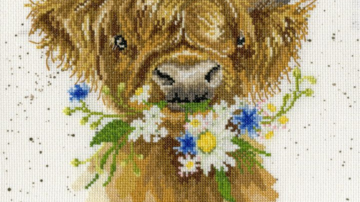 """Bothy Threads Cross Stich Kit """"Daisy Coo"""" by Wrendale"""