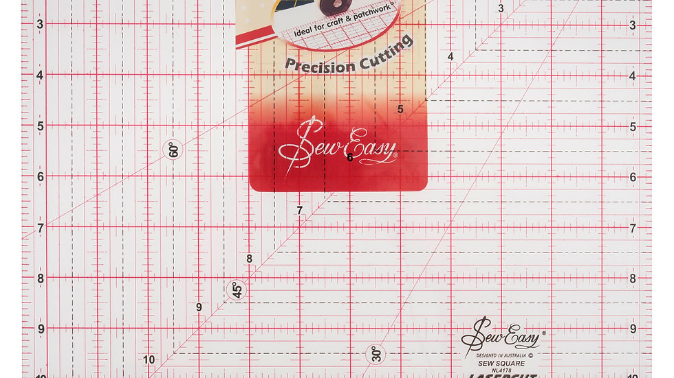 """Sew Easy  12 1/2"""" x 12 1/2"""" Quilting Ruler"""