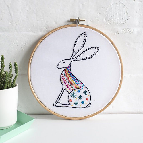 Contemporary Hare Embroidery Kit