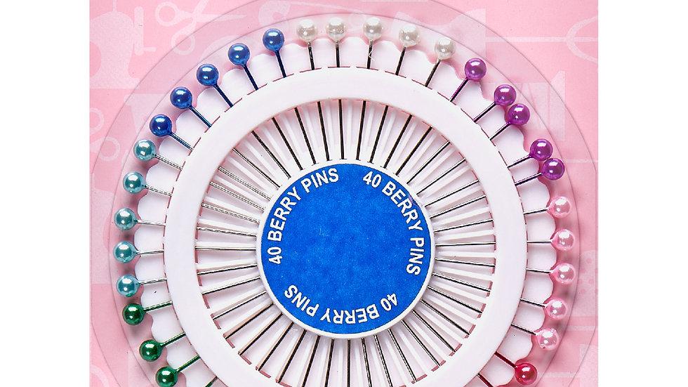 Hemline Plastic Head Pin Rosette